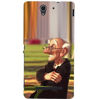 ifasho Old man playing chess animated design Back Case Cover for Sony Xperia C3 Dual