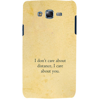 ifasho care quotes  Back Case Cover for Samsung Galaxy J7 (2016)