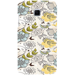 ifasho Animated Pattern colrful design flower and cage and birds Back Case Cover for Samsung Galaxy J3