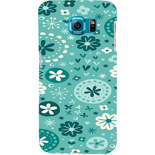 ifasho Modern Art Design animated cloth Pattern of flower Back Case Cover for Samsung Galaxy S6 Edge Plus