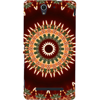 ifasho Animated Pattern design colorful flower in royal style Back Case Cover for Sony Xperia C3 Dual