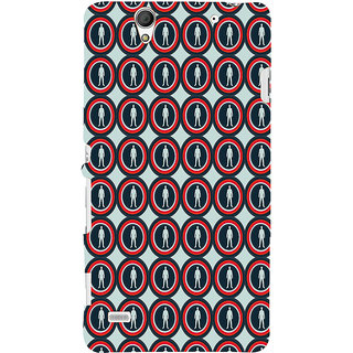 ifasho Animation Clourful Circle Pattern with man inside Back Case Cover for Sony Xperia C4