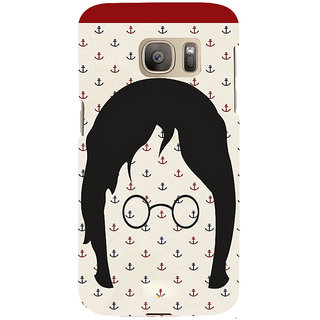 ifasho Modern Art Design Pattern with Lot Of small anchor Back Case Cover for Samsung Galaxy S7 Edge