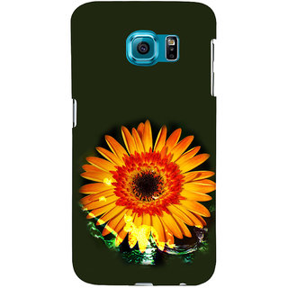ifasho one Flowers Back Case Cover for Samsung Galaxy S6 Edge Plus