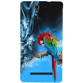 ifasho Parrot In Animation Back Case Cover for Sony Xperia C3 Dual
