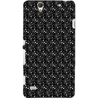 ifasho Animated Pattern Littel Flowers Back Case Cover for Sony Xperia C4