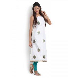 White Chanderi Kurta with Gota-Patti
