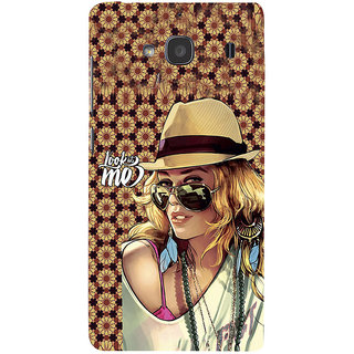 ifasho Look at me Girl Back Case Cover for Redmi 2S