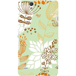 ifasho Animated Pattern painting colrful design cartoon flower with leaves Back Case Cover for Sony Xperia C4
