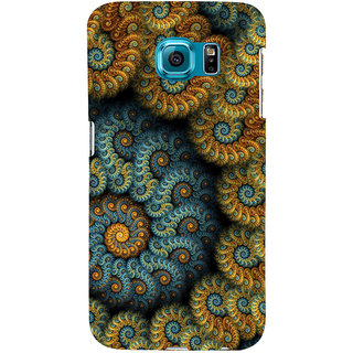 ifasho Animated Pattern design colorful flower in royal style Back Case Cover for Samsung Galaxy S6 Edge Plus