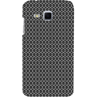 ifasho Animated Pattern design black and white flower in royal style Back Case Cover for Samsung Galaxy J3