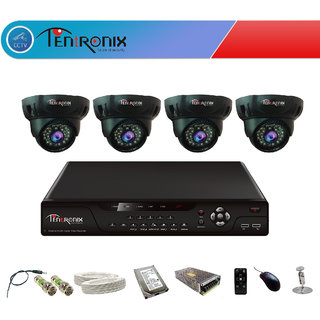 4 Channel H.264 Network DVR with 4  900 TVL HD Dome 36 IR Cameras