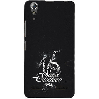 ifasho sweet sixteen quotes Back Case Cover for Lenovo A6000 Plus