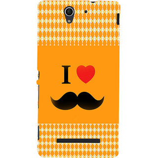 ifasho I love Moustache Back Case Cover for Sony Xperia C3 Dual