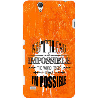ifasho Good Quote on Achivement Back Case Cover for Sony Xperia C4