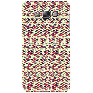 ifasho Modern Art Design Pattern Lot of fish Back Case Cover for Samsung Galaxy E7