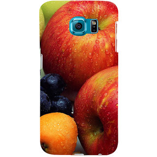 ifasho Fruits pattern Back Case Cover for Samsung Galaxy S6 Edge Plus