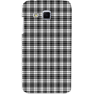 ifasho Modern Theme of black and white Squre lines Back Case Cover for Samsung Galaxy J3