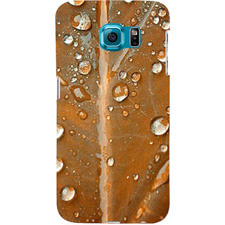 ifasho water Drop on brown leaf Back Case Cover for Samsung Galaxy S6 Edge Plus