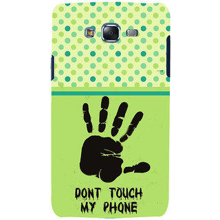 ifasho Modern Art Design  dont touch my phone with palm Back Case Cover for Samsung Galaxy J7 (2016)