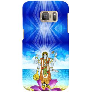 ifasho Lord Vishnu Back Case Cover for Samsung Galaxy S7 Edge