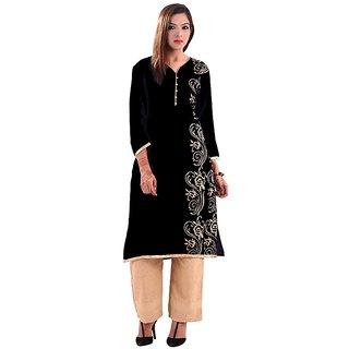 Gurukripa Shopee   Fashion Women's Black Cotton Kurti - 104