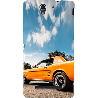 ifasho Orange colour Car Back Case Cover for Sony Xperia C3 Dual
