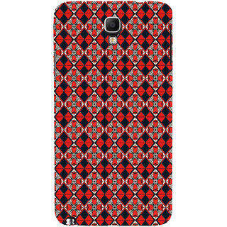 ifasho Animated Pattern small red rose flower with black and red rectangle Back Case Cover for Samsung Galaxy Note3 Neo