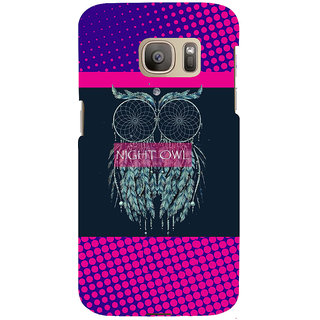 ifasho Stylish Owl Back Case Cover for Samsung Galaxy S7 Edge