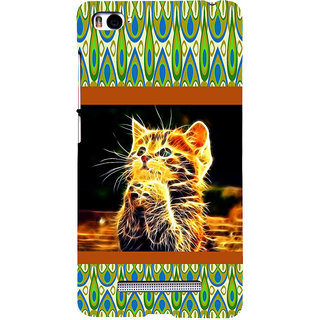 ifasho Cat with big eyes animated designed Back Case Cover for Redmi Mi4i