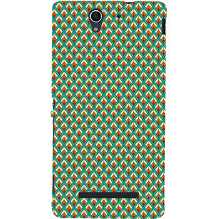 ifasho Animated Pattern of Chevron Arrows royal style Back Case Cover for Sony Xperia C3 Dual