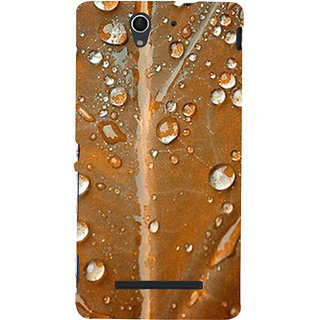 ifasho water Drop on brown leaf Back Case Cover for Sony Xperia C3 Dual