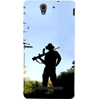 ifasho Army man With Gun Back Case Cover for Sony Xperia C3 Dual
