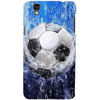 ifasho Foot ball Back Case Cover for YU Yurekha