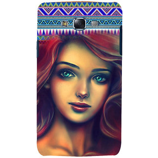 ifasho Gorgeous Winking Girl Back Case Cover for Samsung Galaxy J7 (2016)