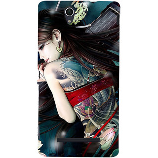 ifasho tatoo girl Back Case Cover for Sony Xperia C3 Dual