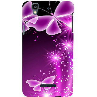 ifasho Butterfly Back Case Cover for YU Yurekha
