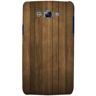 ifasho Brown Wooden Pattern Back Case Cover for Samsung Galaxy J5