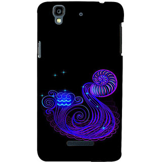 ifasho zodiac sign aquarius Back Case Cover for YU Yurekha