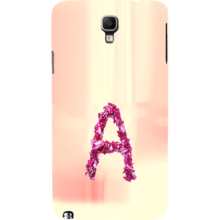 ifasho alphabet name series A Back Case Cover for Samsung Galaxy Note3 Neo
