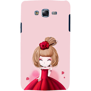 ifasho Princess Girl Back Case Cover for Samsung Galaxy J5