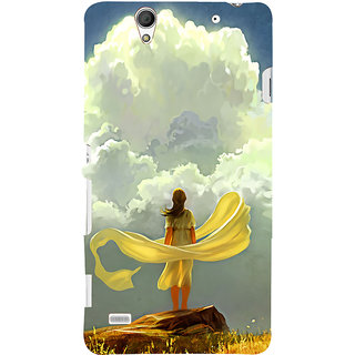 ifasho Girl waiting art work painting Back Case Cover for Sony Xperia C4