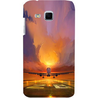 ifasho aeroPlane flying in blue sky Back Case Cover for Samsung Galaxy J3