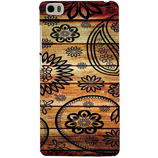 ifasho Animated Royal Pattern with Wooden back ground Back Case Cover for Redmi Mi5
