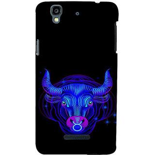 ifasho zodiac sign Taurus Back Case Cover for YU Yurekha