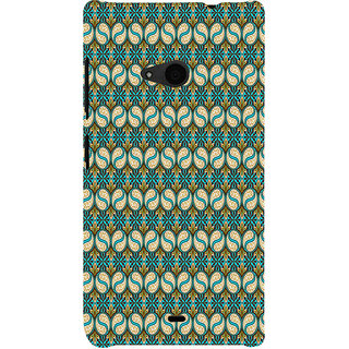 ifasho Animated Pattern design colorful flower in royal style with lines Back Case Cover for Nokia Lumia 535