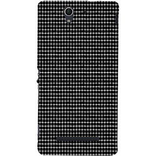 ifasho Animated Pattern  equal size Circle black and white Back Case Cover for Sony Xperia C3 Dual
