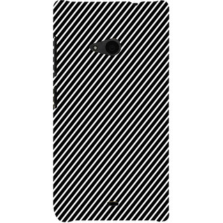 ifasho Design lines pattern Back Case Cover for Nokia Lumia 535