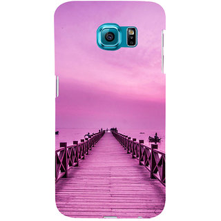 ifasho walking wooden bridge on a sea Back Case Cover for Samsung Galaxy S6 Edge Plus