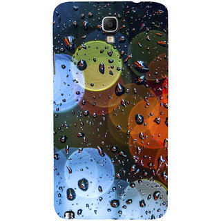 ifasho water Drop on colorful glass Back Case Cover for Samsung Galaxy Note3 Neo